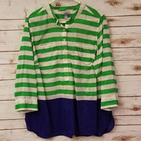 3f75fef06ea5e3 jcpenney Tops | 22 Silk Blend Plus Size 2x Blouse Like New | Poshmark